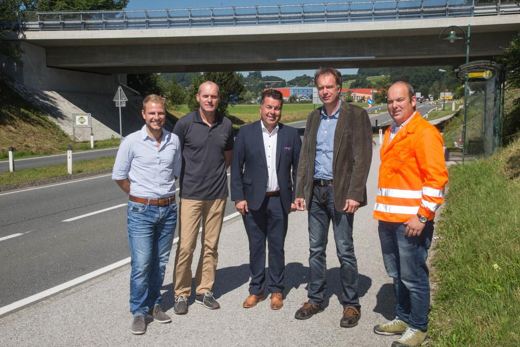 Thomas Strasser, Kurt Haslauer, LR Hans Mayr, Werner David und Christian Löcker