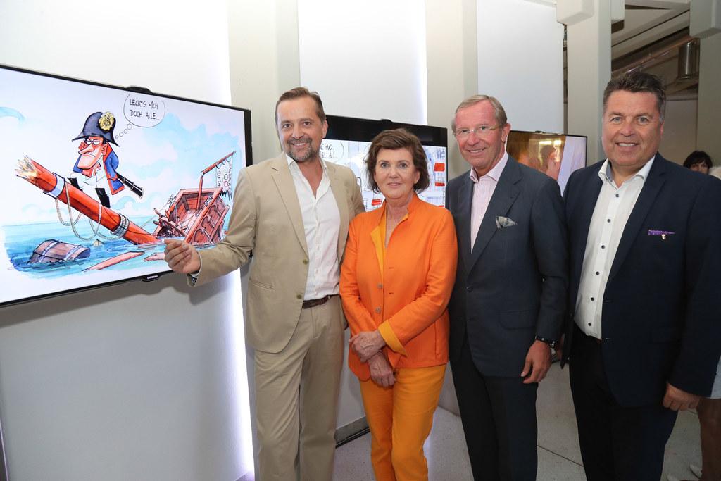 Thomas Wizany, Helga Rabl Stadler, LH Wilfried Haslauer und LR Hans Mayr