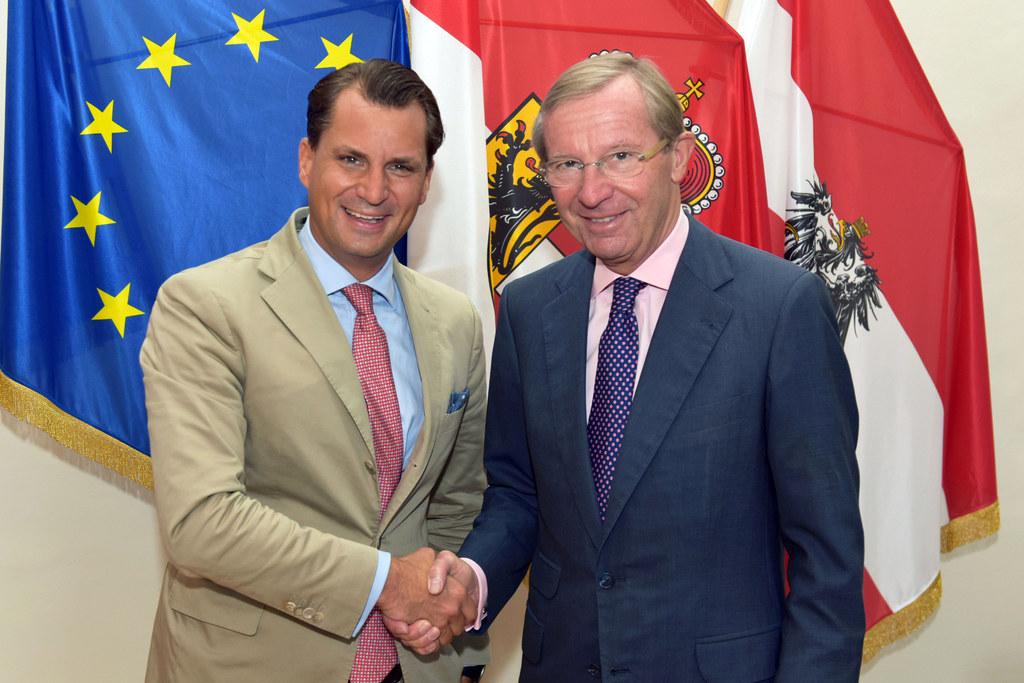 Antrittsbesuch des neuen Präsidenten der Industriellenvereinigung Salzburg, Pete..
