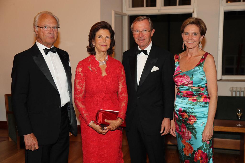 König Carl XVI. Gustaf und seine Gattin Königin Silvia bei Landeshauptmann Wilfr..