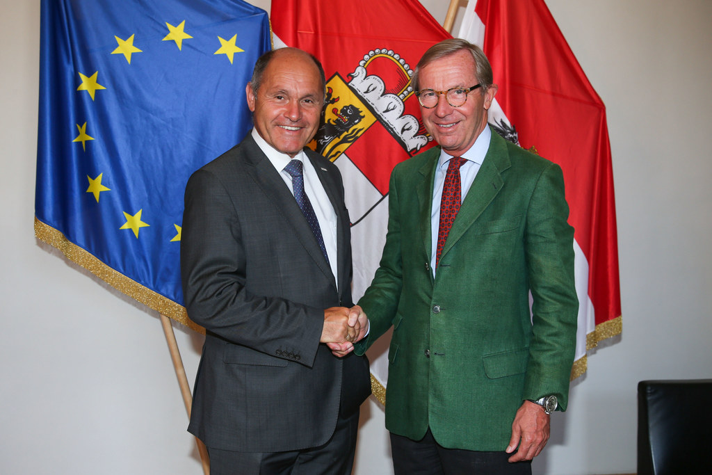 Bundesminister Wolfgang Sobotka zu Besuch bei Landeshauptmann Wilfried Haslauer