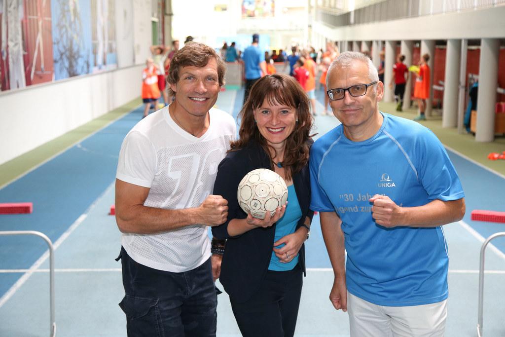 Michael Mayrhofer Sportpädagoge, LR Martina Berthold und Karl Weilguny