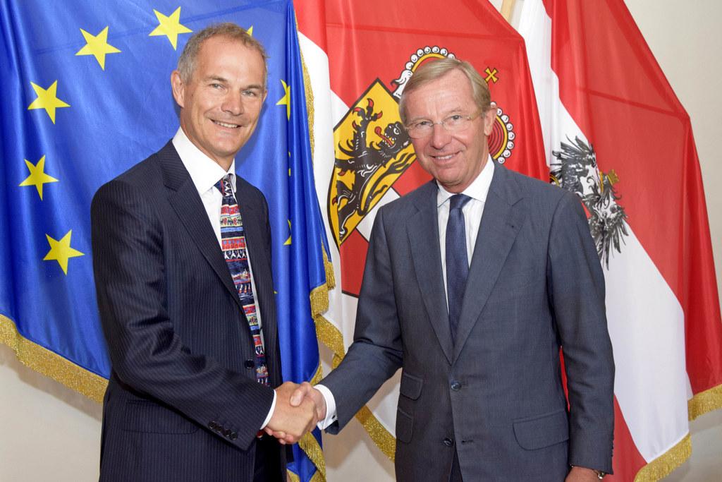 Botschafter Robert Leigh Turner und Landeshauptmann Wilfried Haslauer