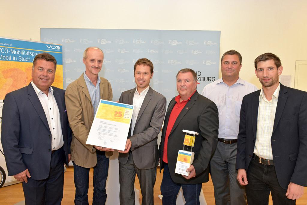Landesrat Hans Mayr, Peter Weiss, Christian Gratzer, Konrad Poiss, Peter Schmolm..