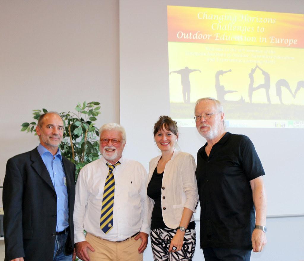 Günter Amesberger, Peter Becker, Landesrätin Martina Berthold und Heiner Keupp