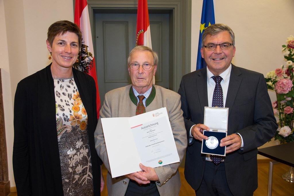 Landeshauptmann-Stellvertreterin Astrid Rössler, Heinz Thomasser und Landesrat J..