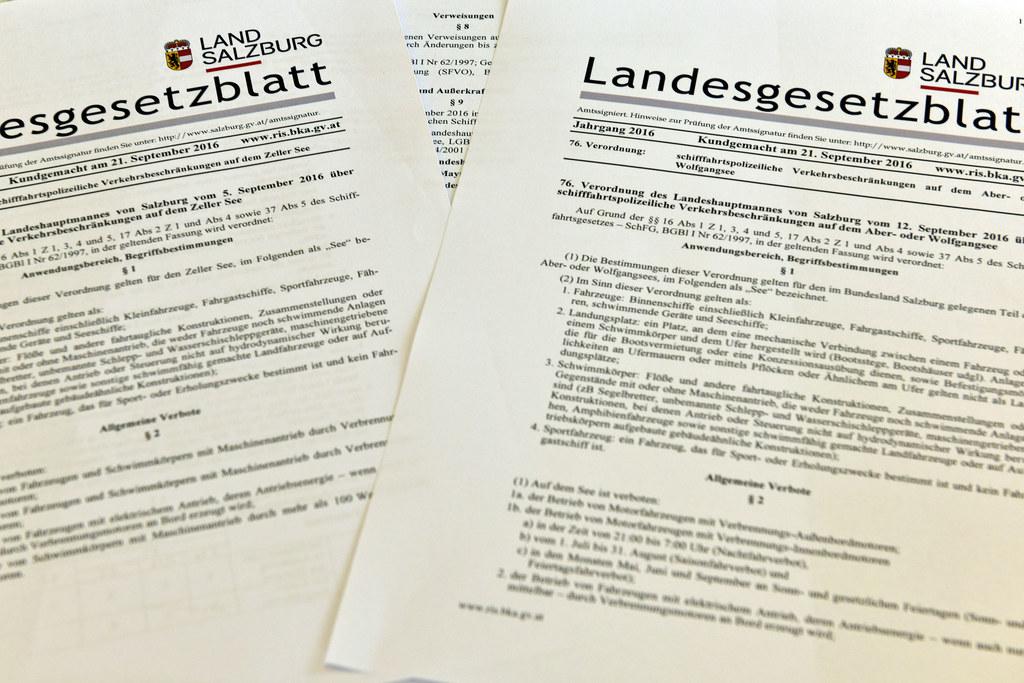 Drei Salzburger Landesgesetzblätter wurden heute, Freitag, 17. Februar, im Recht..