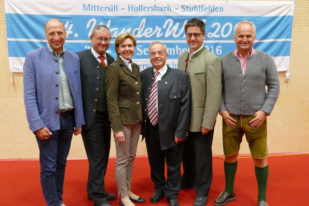 Roland Rauch (Tourismusverband Mittersill), Bürgermeister Wolfgang Viertler, Lan..