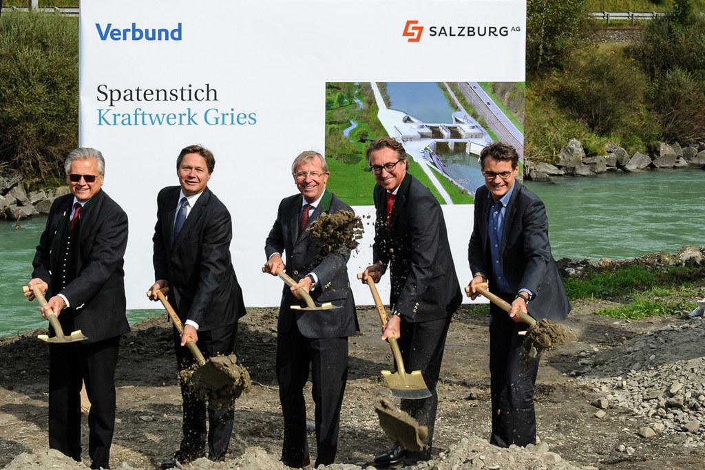 Günther Rabensteiner (Verbund AG), Wolfgang Anzengruber (Verbund AG), Landeshaup..