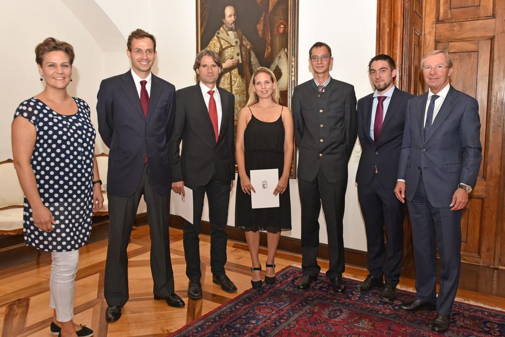 Vizepräsidentin Arch. Olivia Schimek-Hickisch, Nicolas Weiß, Rupert Herbert Kral..