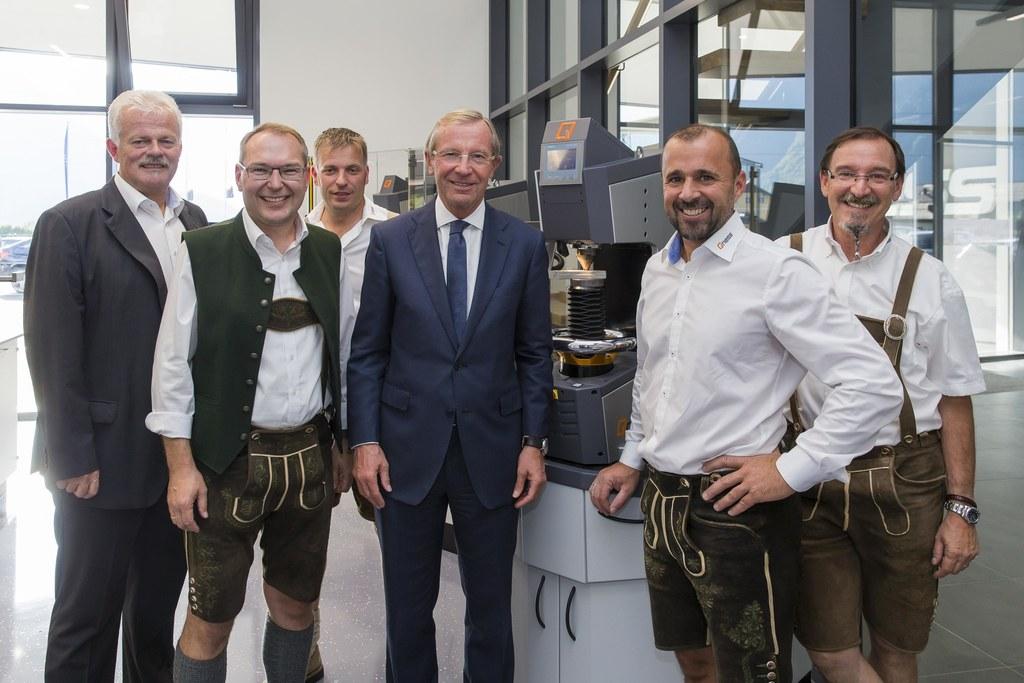 Toni Kaufmann, Reinhard Gruber, Robert Höll, Landeshauptmann Wilfried Haslauer, ..