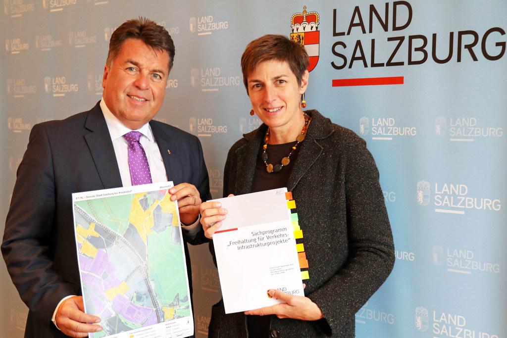 Landesrat Hans Mayr und Landeshauptmann-Stellvertreterin  Astrid Rössler