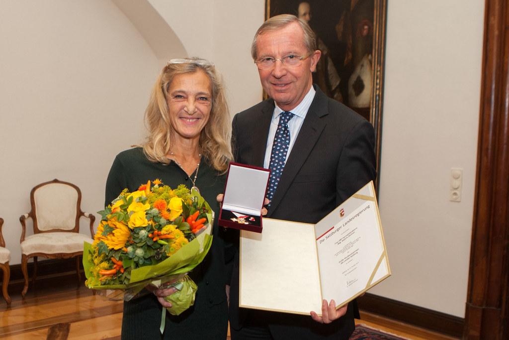 Kathrin Zechner (ORF Fernsehdirektorin/ Programmdirektorin) und LH Dr. Wilfried ..