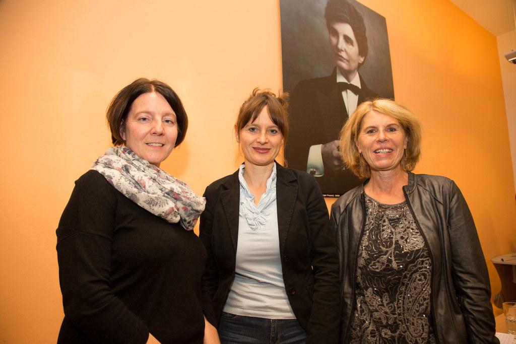 Cornelia Brunnauer, Landesrätin Martina Berthold und Ingrid Schmutzhart bei der ..