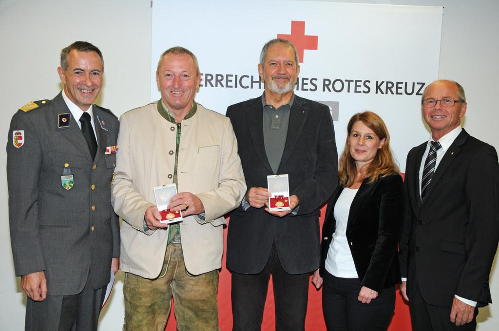 Landesrettungskommandant Anton Holzer, Franz Dürager (Mattsee), Reinhard Hölling..
