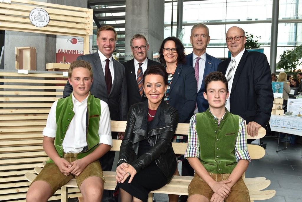 Landesschulratspräsident Johannes Plötzeneder, Dir. Rupert Kreuzer, Daniela Guts..