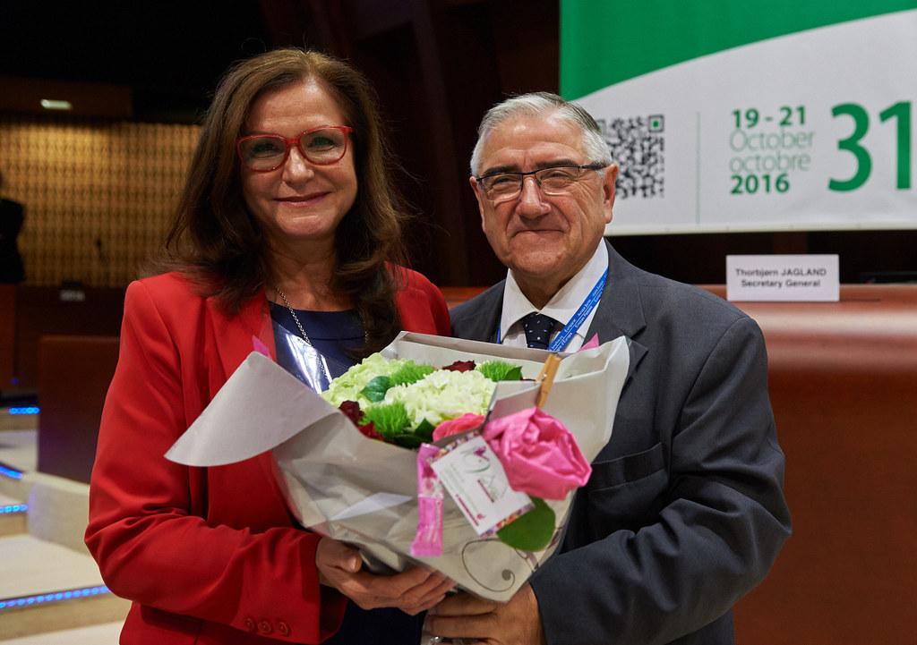 Gudrun Mosler-Törnström und Jean-Claude Frecon