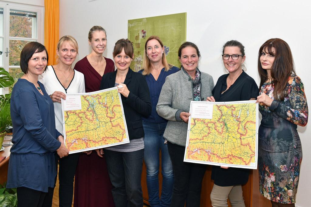 Margret Prodinger, Silke Sinnstein, Alexandra Dreier, Landesrätin Martina Bertho..