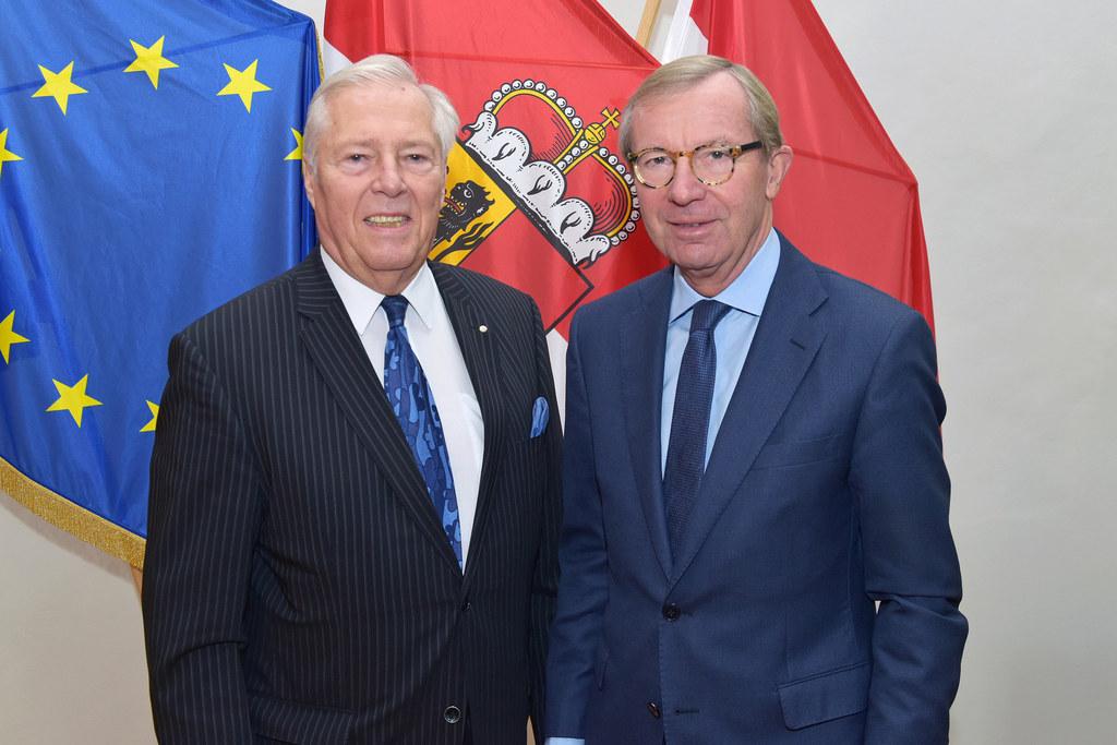 Gustav Chlestil zu Besuch bei Landeshauptmann Wilfried Haslauer