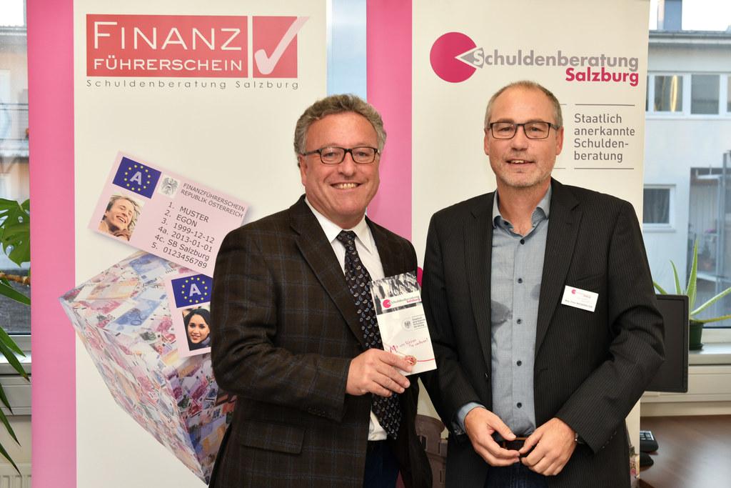 Landesrat Heinrich Schellhorn und Geschäftsführer Peter Niederreiter