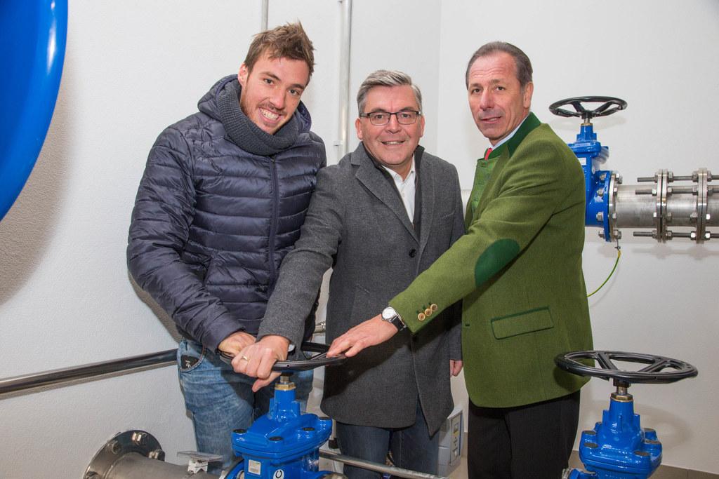 Martin Gsenger, Landesrat Josef Schwaiger und Bgm. Herbert Farmer