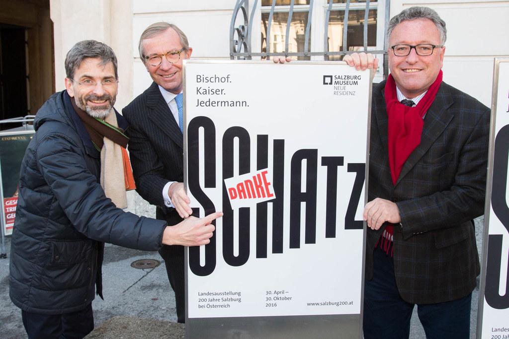 Martin Hochleitner, Landeshauptmann Wilfried Haslauer und Landesrat Heinrich Sch..