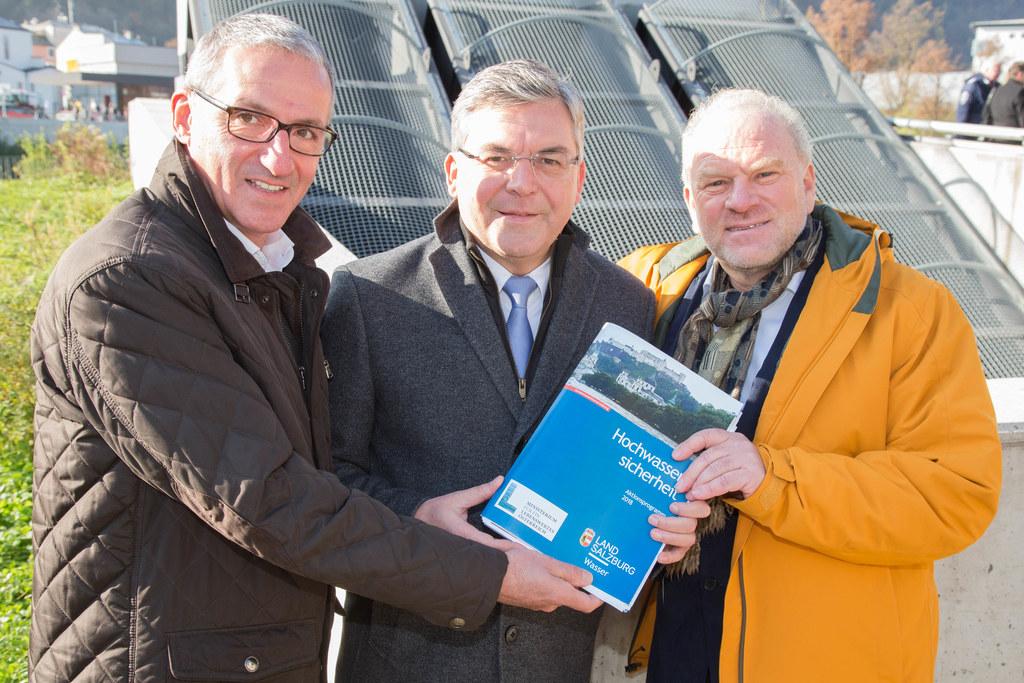 Bürgermeister Gerhard Anzengruber, Landesrat Josef Schwaiger und Robert Loizl