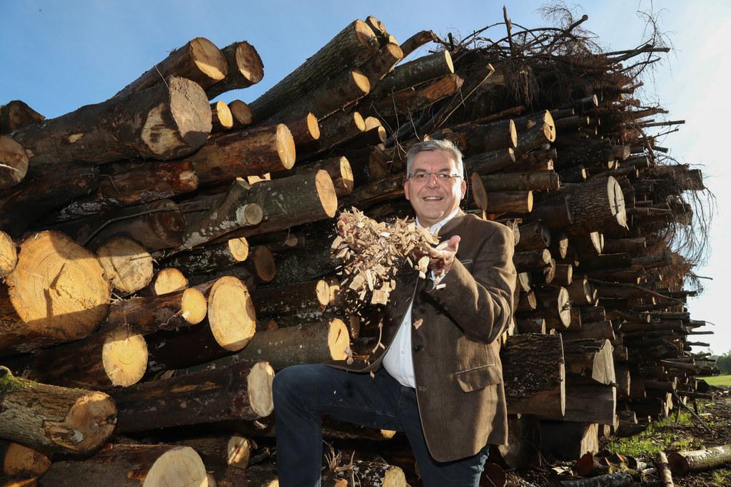 Landesrat Josef Schwaiger verweist auf die wirtschaftliche Bedeutung von Biomass..