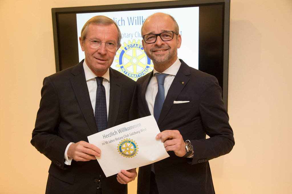 Landeshauptmann Wilfried Haslauer und Toni Santner