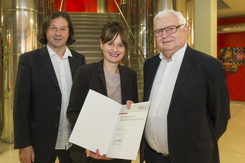 Hans Holzinger, Landesrätin Martina Berthold und Klaus Firlei