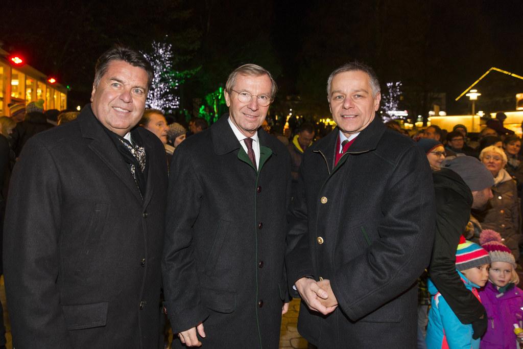 Landesrat Hans Mayr, Landeshauptmann Wilfried Haslauer und Vizebürgermeister Joh..