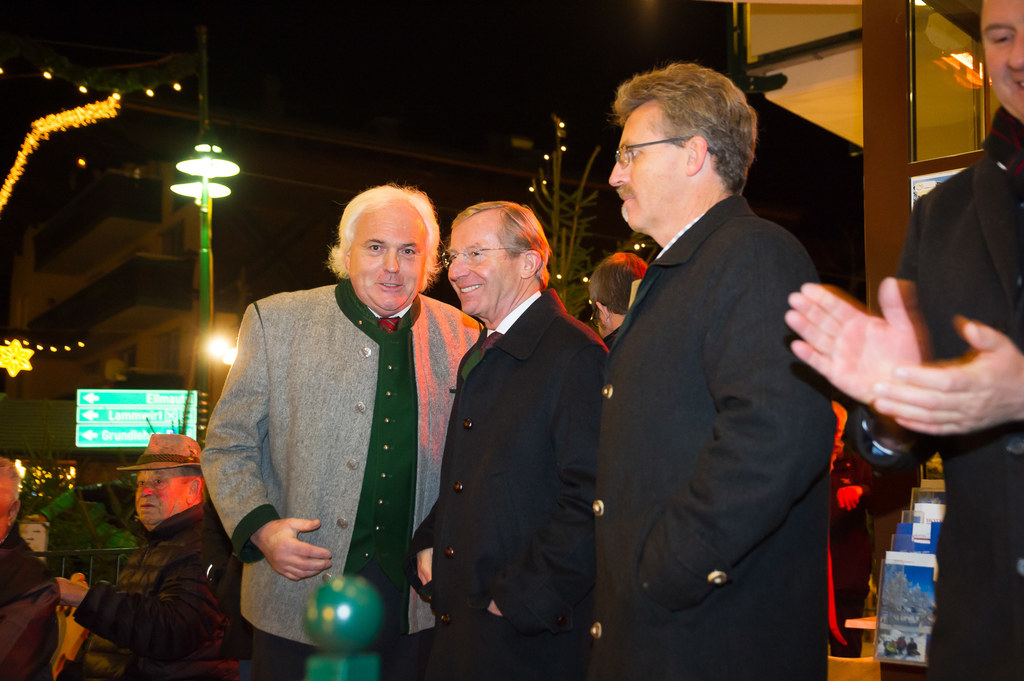 LH Wilfried Haslauer, Franz Zraunig und Thomas Wirnsperger
