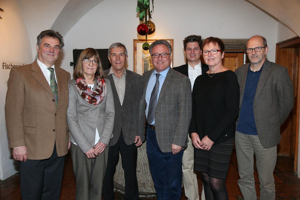Bernhard Strobl, Irmgard Mathmann, und Heinz Flötotto von der Kurt-und-Felicitas..