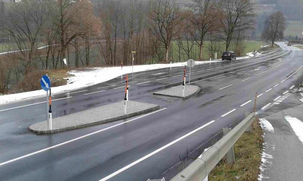 Die gefährliche Kreuzung an der B159 Salzachtalstraße in Werfen wurde entschärft..