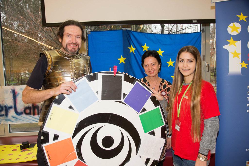 Hadmar Wieser, Gritlind Kettl und Schülerin Ivana