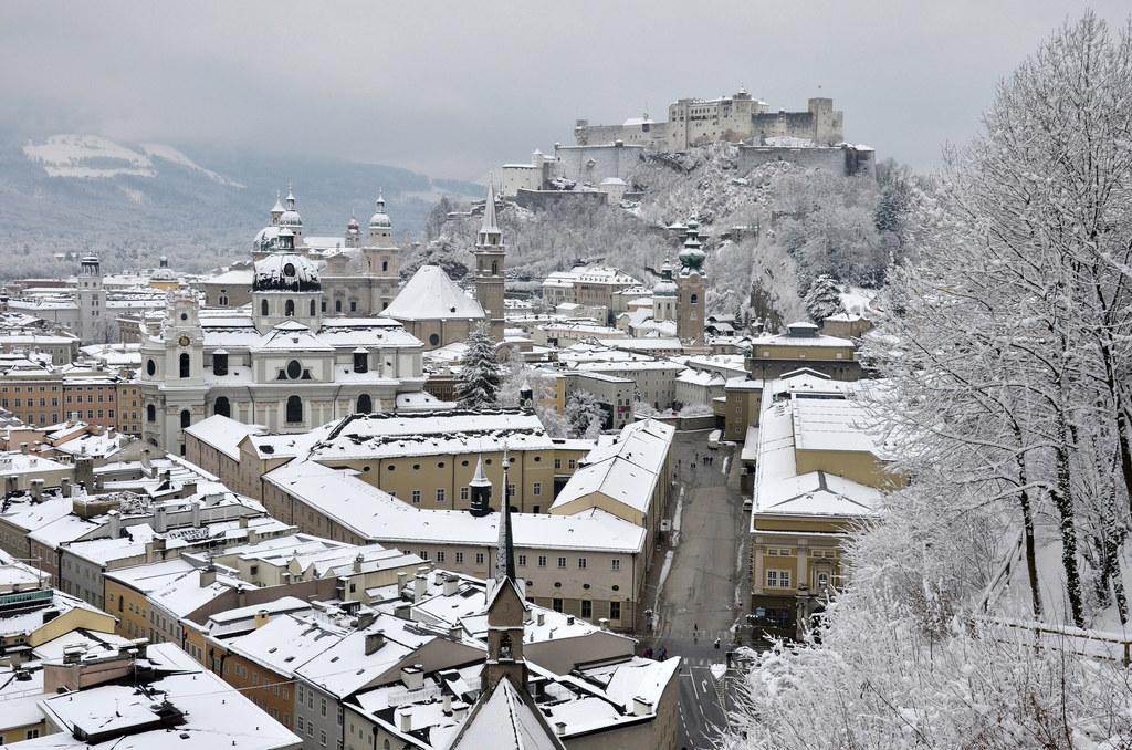 Winter in der Stadt Salzburg
