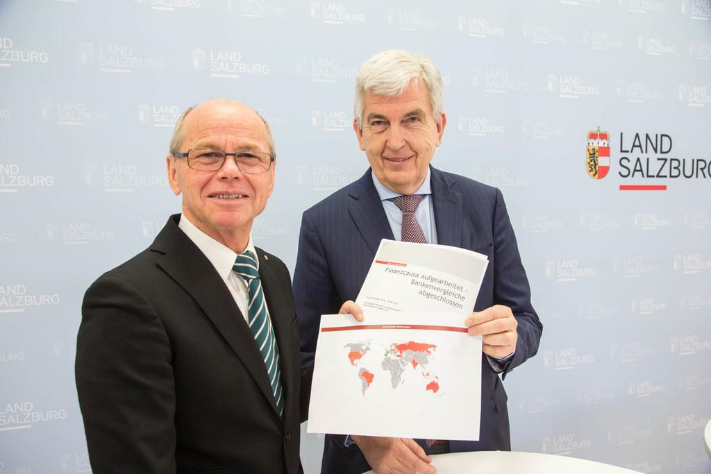 Landeshauptmann-Stellvertreter Christian Stöckl und Herbert Prucher