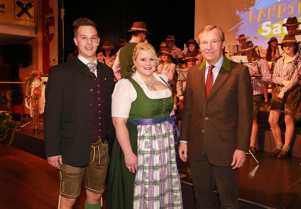 Maximilian Brugger (Landesleiter Landjugend Salzburg), Karin Asen (Landesleiteri..