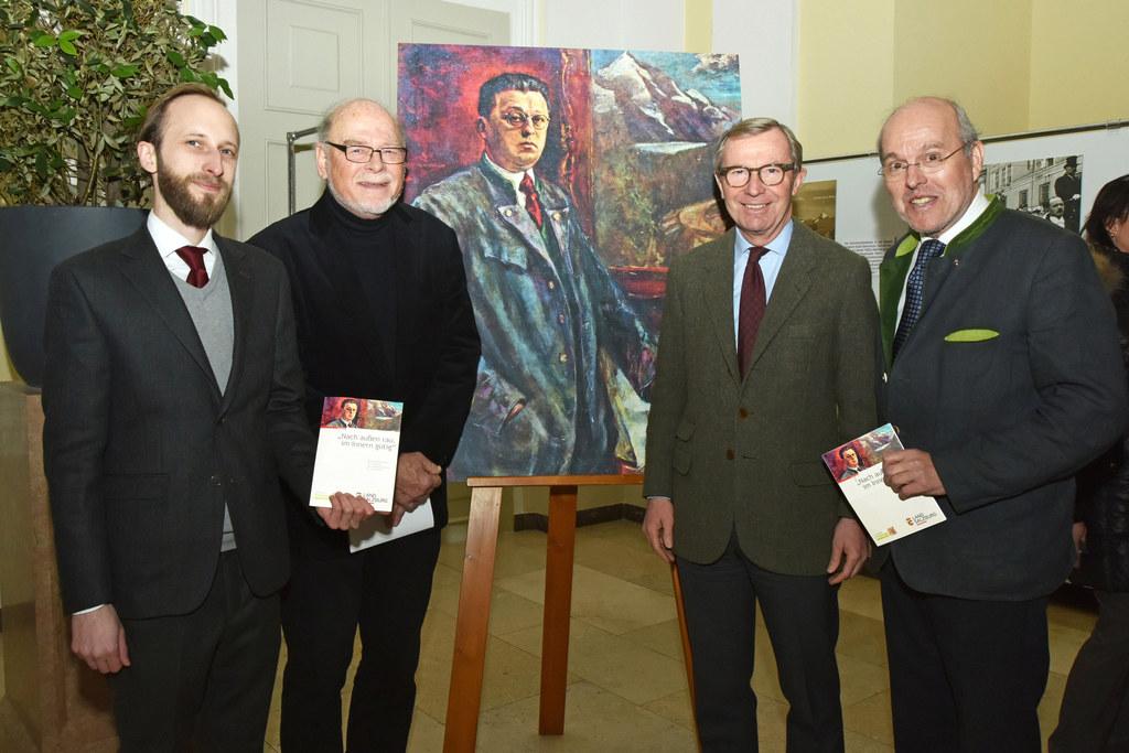 Raphael Steiner, Herbert Dachs, Landeshauptmann Wilfried Haslauer und Michael Ne..