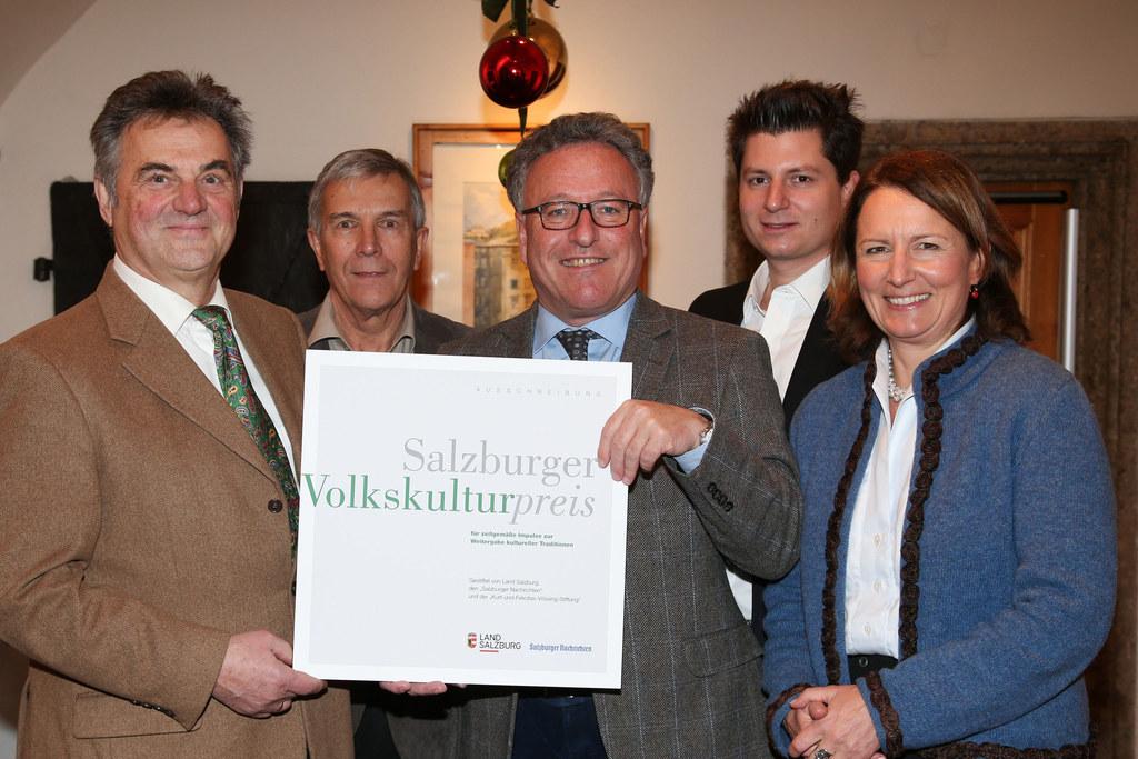 Volkskulturpreis 2017: Bernhard Strobl Stv. Vorsitzender, Heinz Flötotto Vorsitz..
