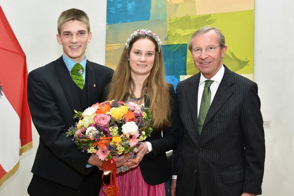 Lukas Zachhalmel, Eva Kübler und Landeshauptmann Wilfried Haslauer