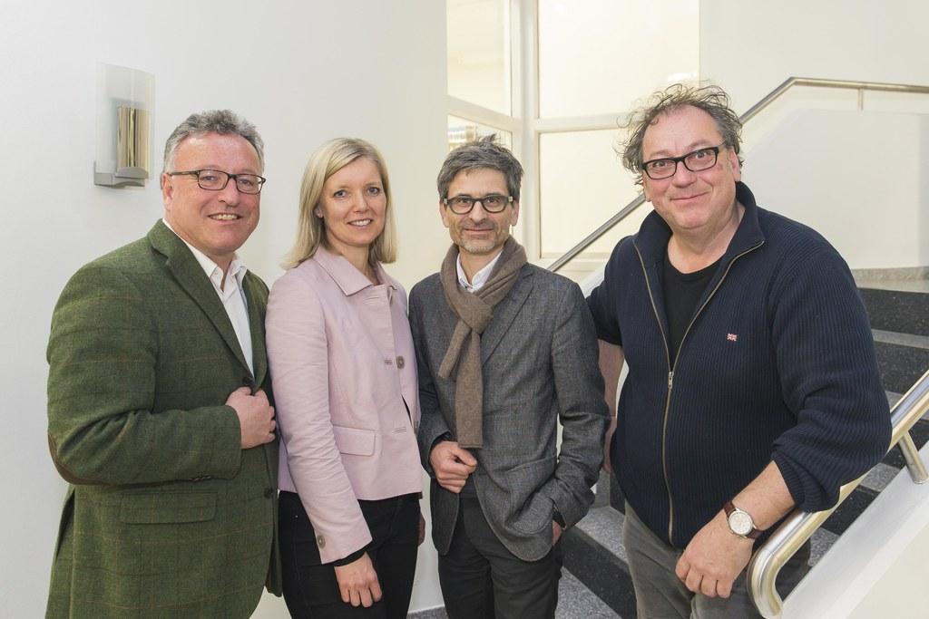 Landesrat Heinrich Schellhorn, Eva Veichtlbauer, Martin Hochleitner und Robert P..