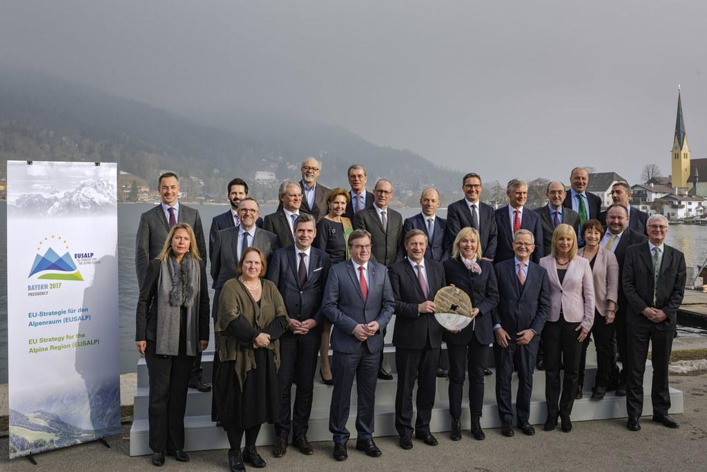 Landtagspräsidentin Brigitta Pallauf bei der EUSALP-Generalversammlung in Rottac..