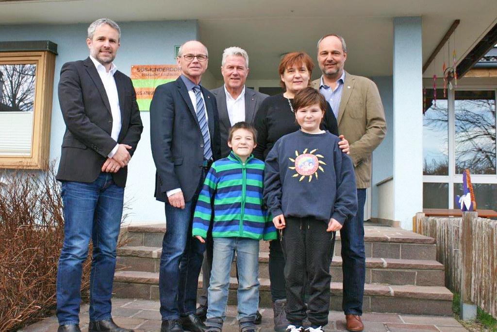 Wolfgang Katsch, LH-Stv. Christian Stöckl, Erich Lobensommer, Wolfgang Arming un..