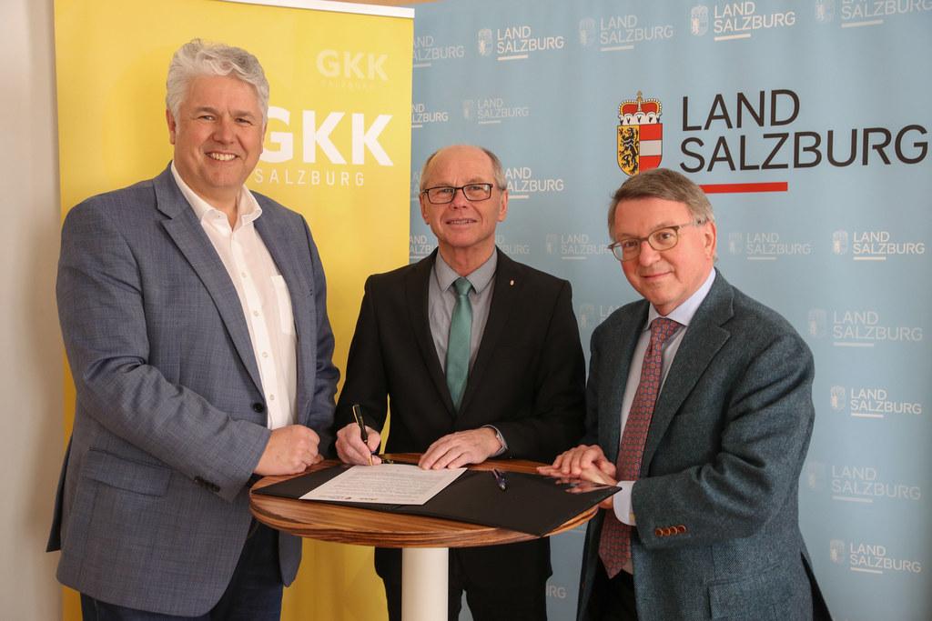Unterzeichnung Vereinbarung Land Salzburg, Gebietskrankenkasse und Ärztekammer ..