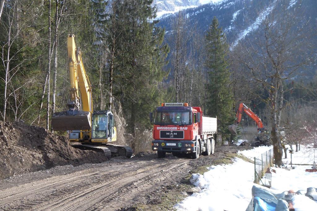 Die Bauarbeiten am Hochwasserschutz Lammer haben kürzlich begonnen.