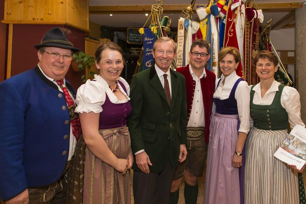 Edi Leitner, Walli Ablibger-Ebner, Landeshauptmann Wilfried Haslauer, Robert Lei..