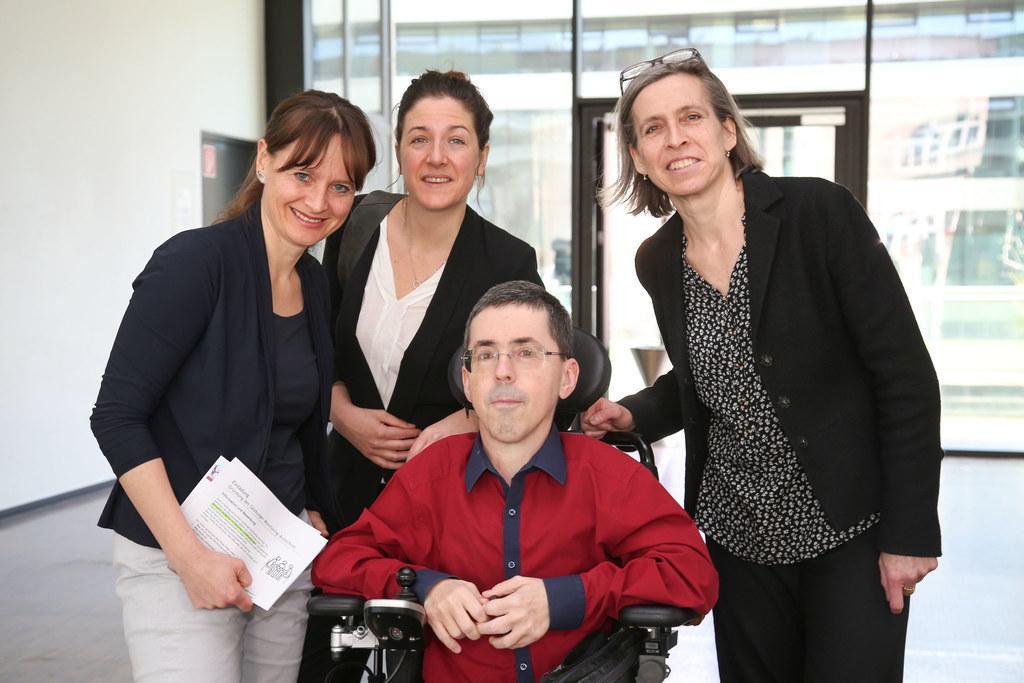 Salzburger Monitoringausschuss: v. li: LR Martina Berthold, Christina Wurzinger,..