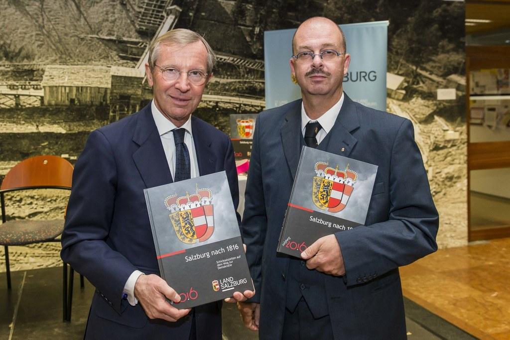 Von Links: Landeshauptmann Wilfried Haslauer und Oskar Dohle