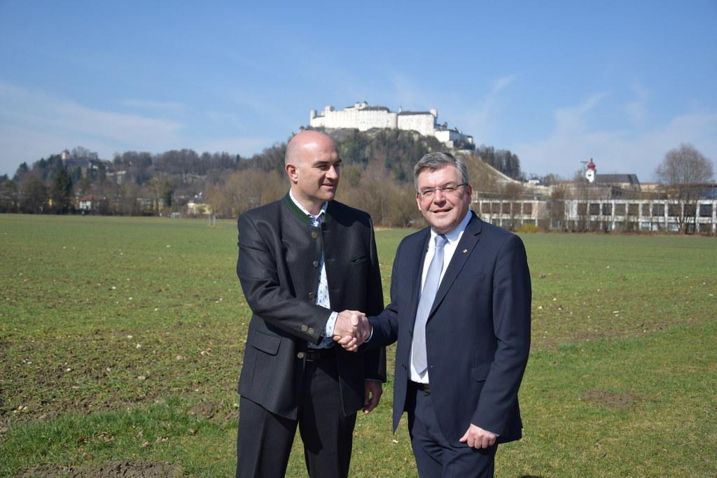 Neuer Geschäftsführer für Salzburger Agrarmarketing, Gerald Reisecker mit Landes..